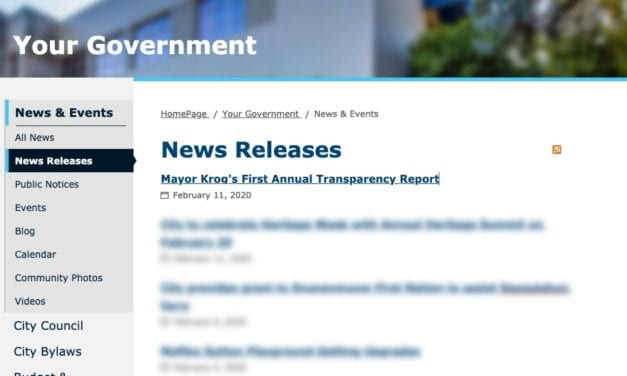 "Nanaimo Mayor's ""Transparency Report"" Reveals Shockingly Mundane Details"